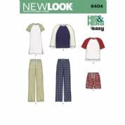 6404  New Look Pattern: Women's and Men's Separates